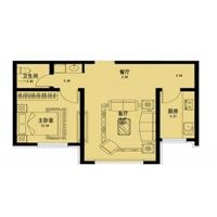2室2厅1卫  75平米