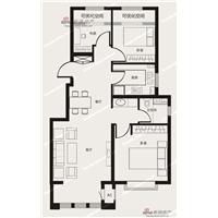 3室2厅1卫  90平米