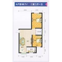 2室2厅1卫  68.7平米