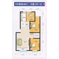 3室2厅1卫  86.44平米