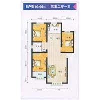 3室2厅1卫  93.66平米